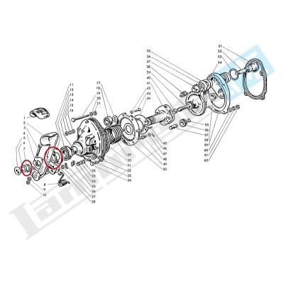 Anello elastico spallamento leva avviamento