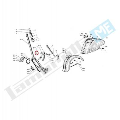 Bullone M7 blocca braccio portaruota