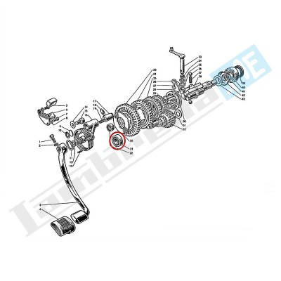 Cuscinetto frizione/cambio/asse posteriore 6202