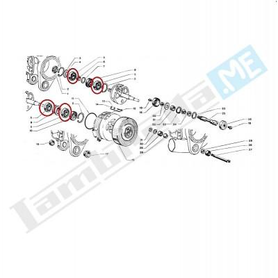 Cuscinetto albero motore e asse ruota posteriore 6203