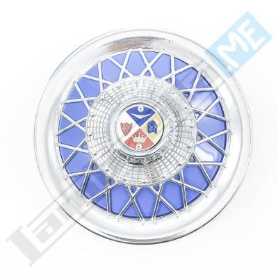 """Coppa cromata blu per ruota di scorta (10"""")"""