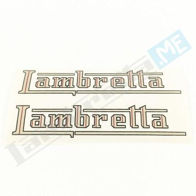"""Coppia scritte """"Lambretta"""" adesive"""