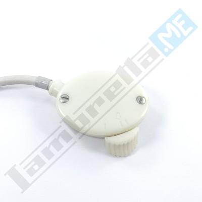 Interruttore a due luci fondo bianco in plastica