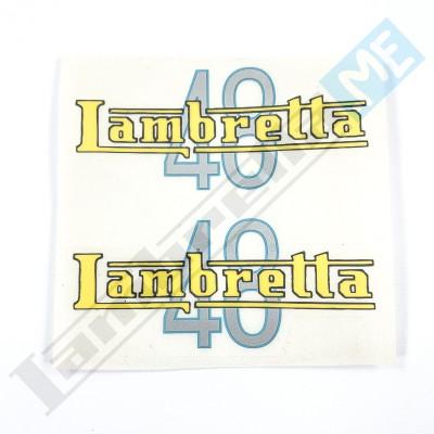 """Coppia scritte adesive """"Lambretta 48"""""""