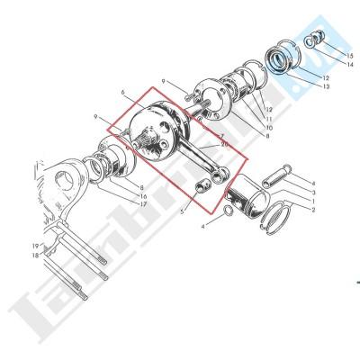 Albero motore completo 175