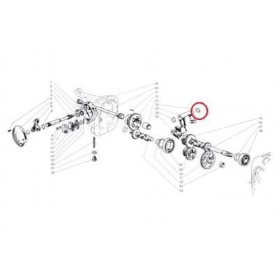 Anello elastico di spallamento leva interna
