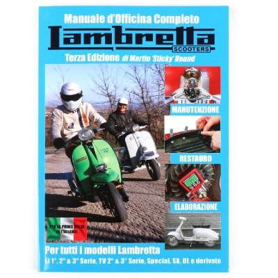 Manuale d'officina completo Lambretta LI-TV-S-SX-DL, 320 pagine