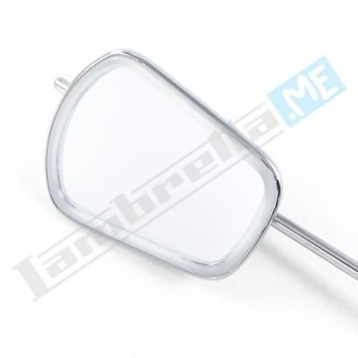 Specchietto retrovisore rettangolare con attacco fascetta asta lunga