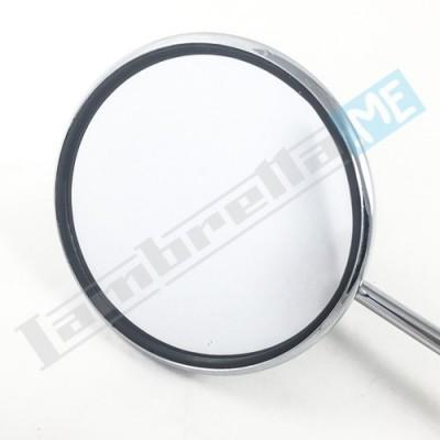 Specchietto retrovisore tondo con attacco fascetta asta lunga