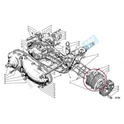 Cilindro motore 125cc Ø52mm