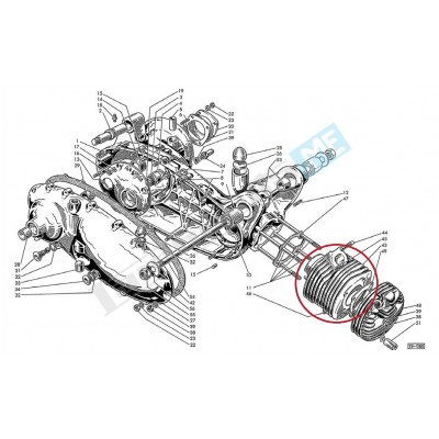 Cilindro motore 175cc Ø62mm