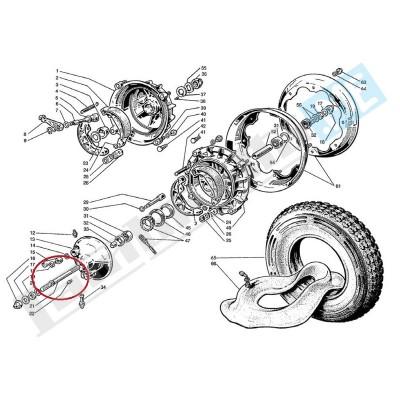 Perno ruota anteriore