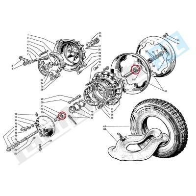 Cuscinetto a sfere ruota anteriore/posteriore e cambio 6201