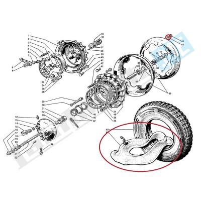 Camera d'aria 3.00x10/3.50x10 Michelin