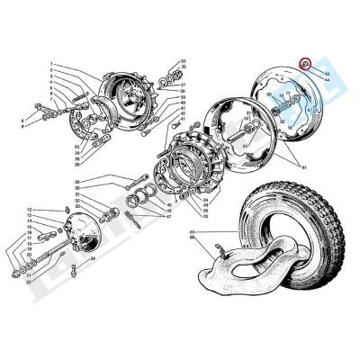 Dado INOX aperto autobloccante chiave 14mm per ruota