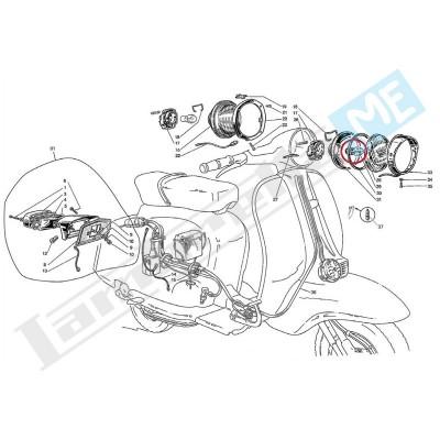 Lampadina biluce 6V 25/25W faro anteriore