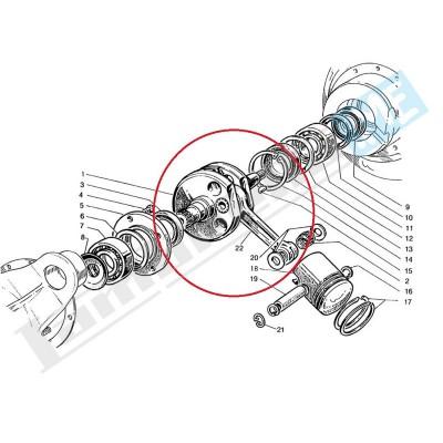 Albero motore completo DL 125/150