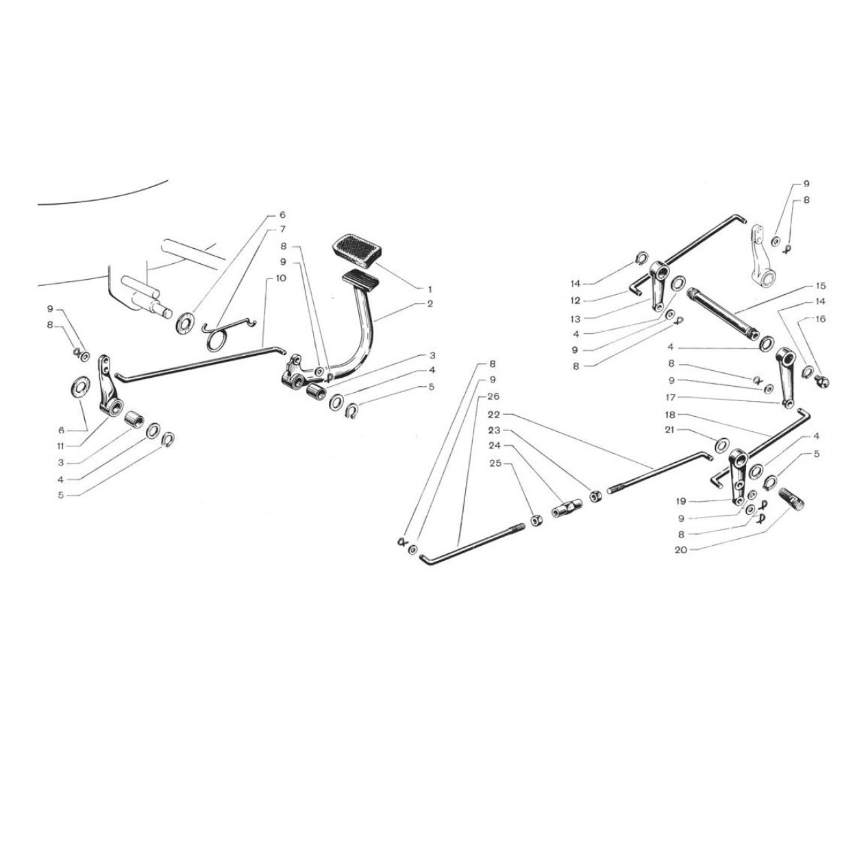 Freno posteriore rigido (Tav.9)