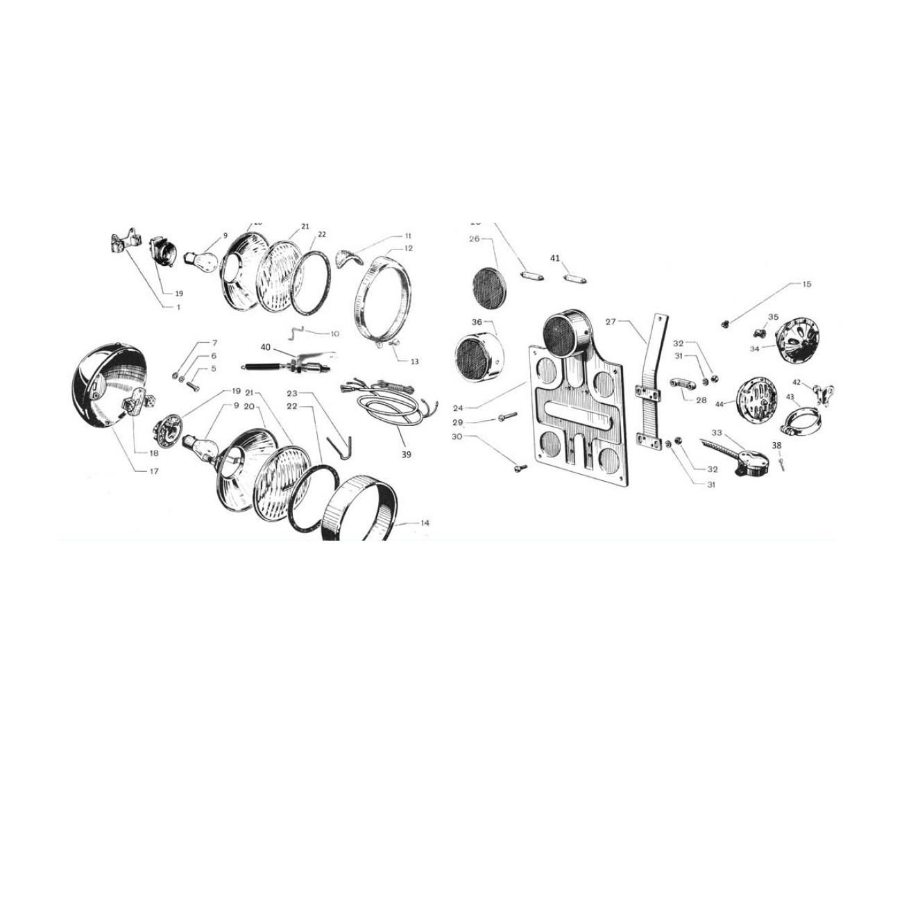 Apparecchiature elettriche e portatarga (Tav.21)