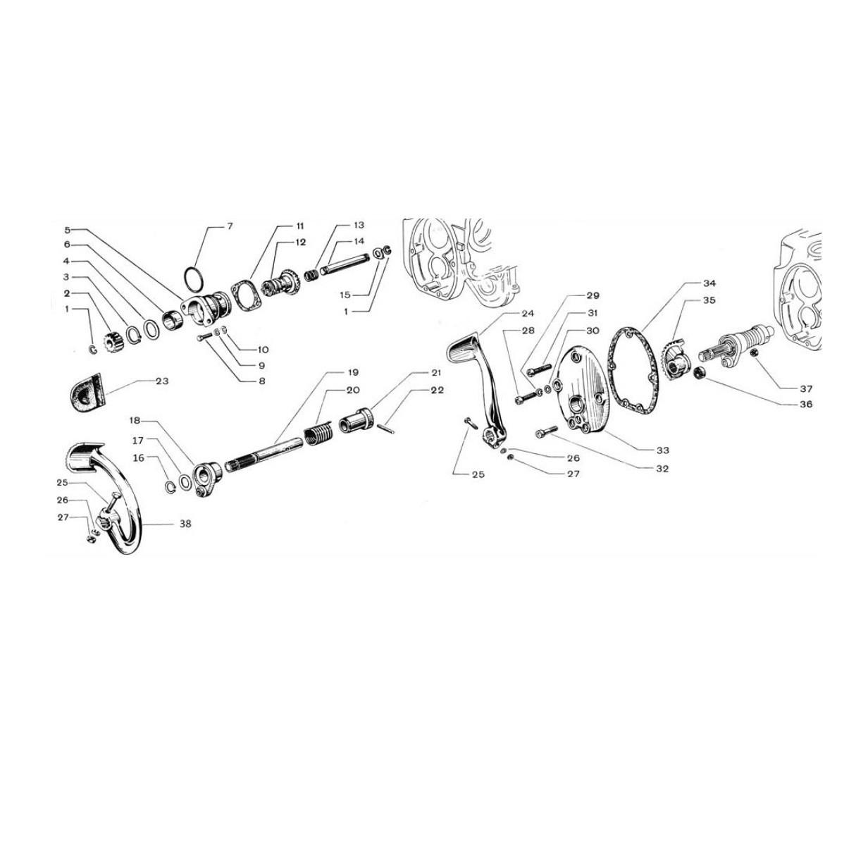 Avviamento motore a pedale (Tav.3)