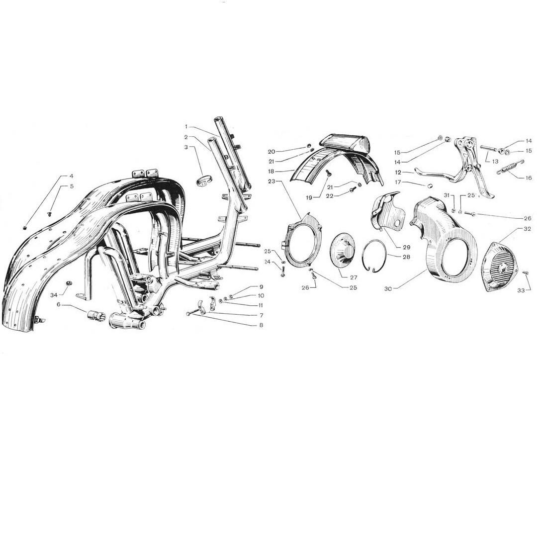 Telaio e convogliatore d'aria (Tav.7/a)