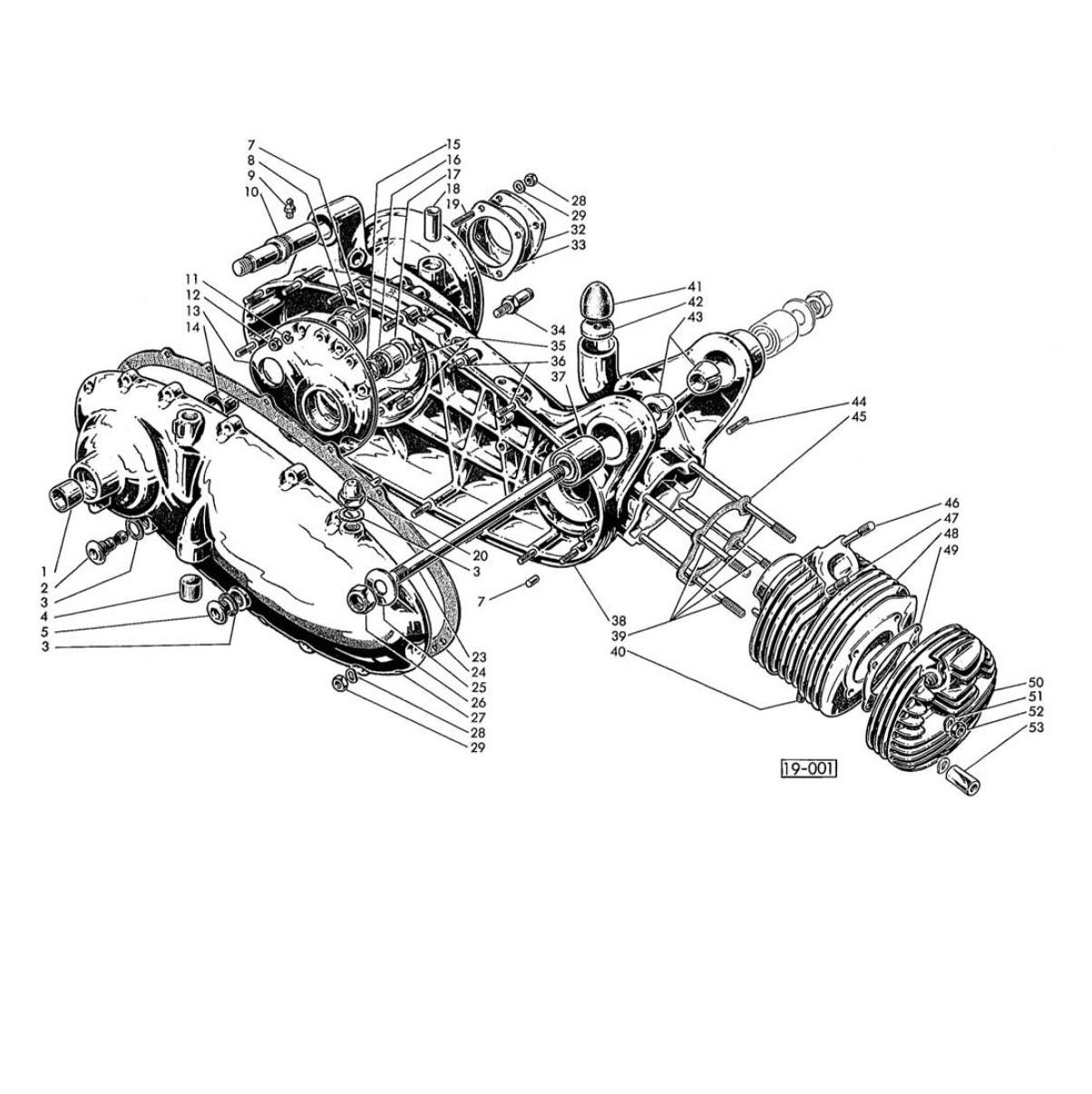 Carter Motore, Cilindro e Testa (Tav.1)