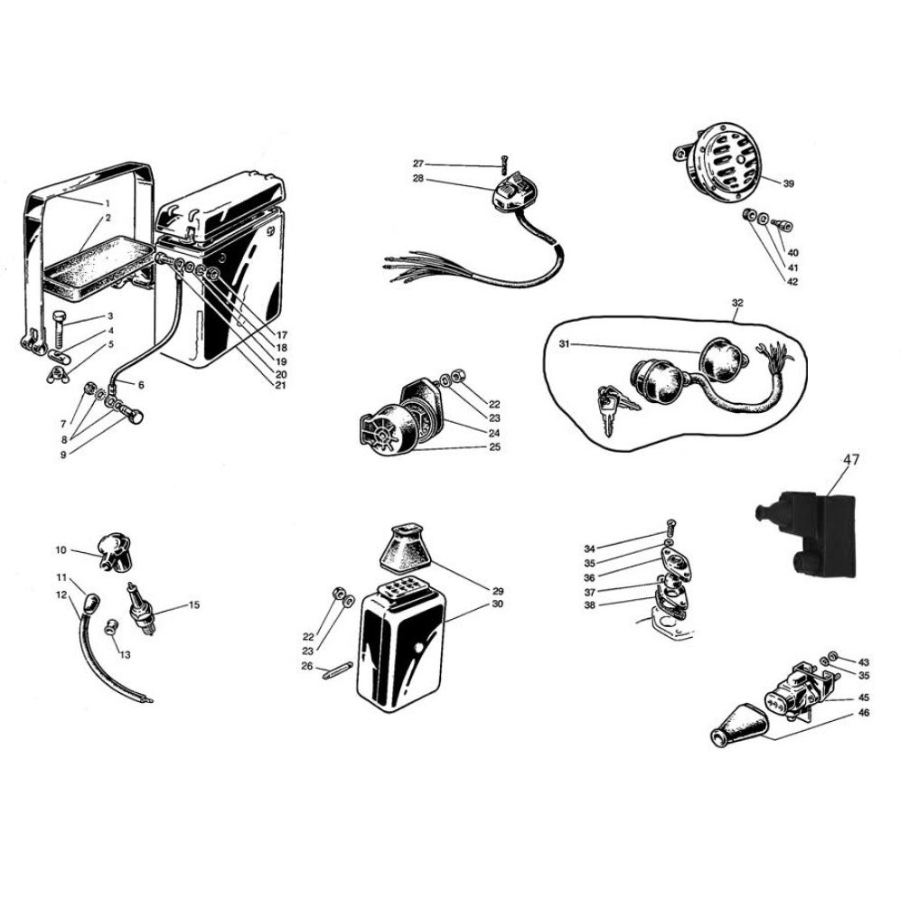 Batteria e Apparecchiature Elettriche (Tav.12)