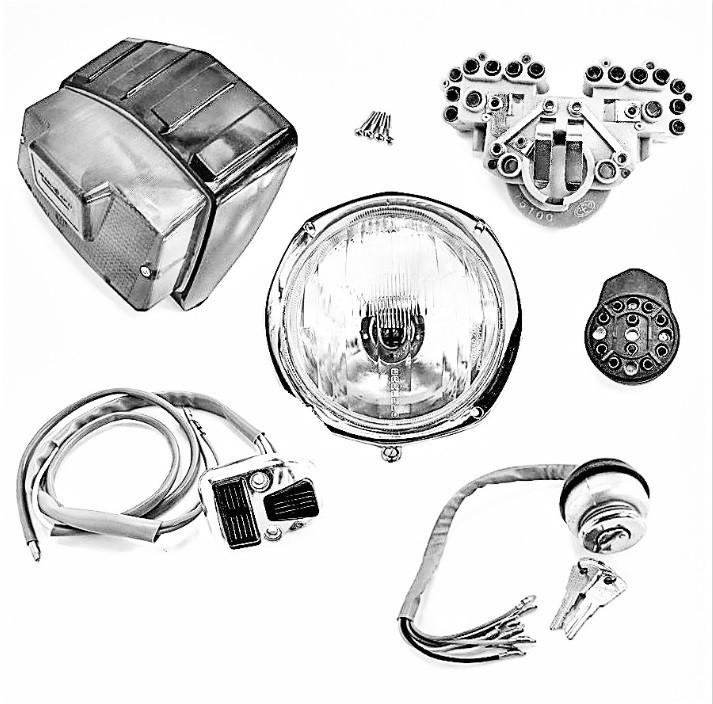 ELETTRICITA' - Fari, claxon, interruttori, volano, impianti e protezioni