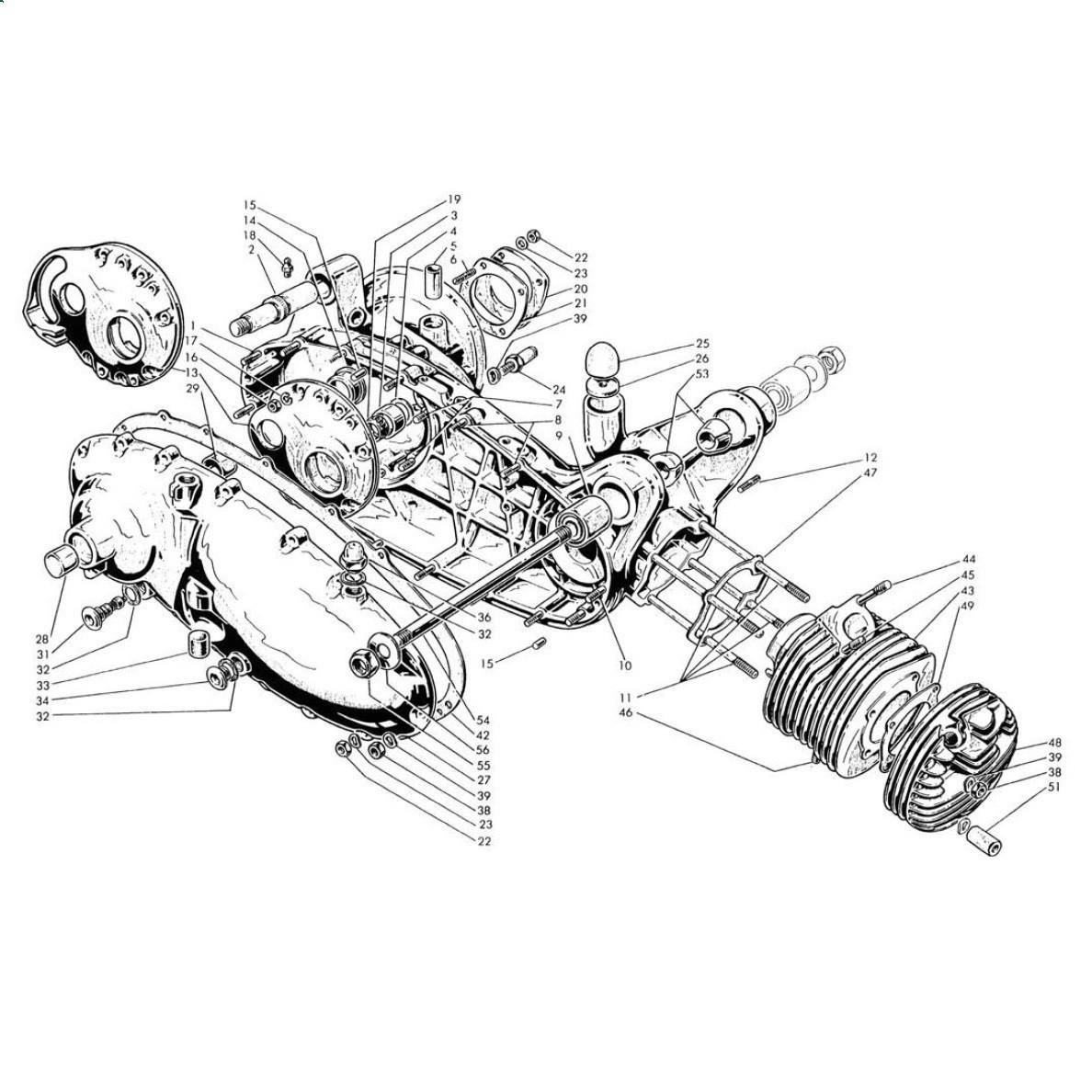 Carter Motore e Cilindro (Tav.1)