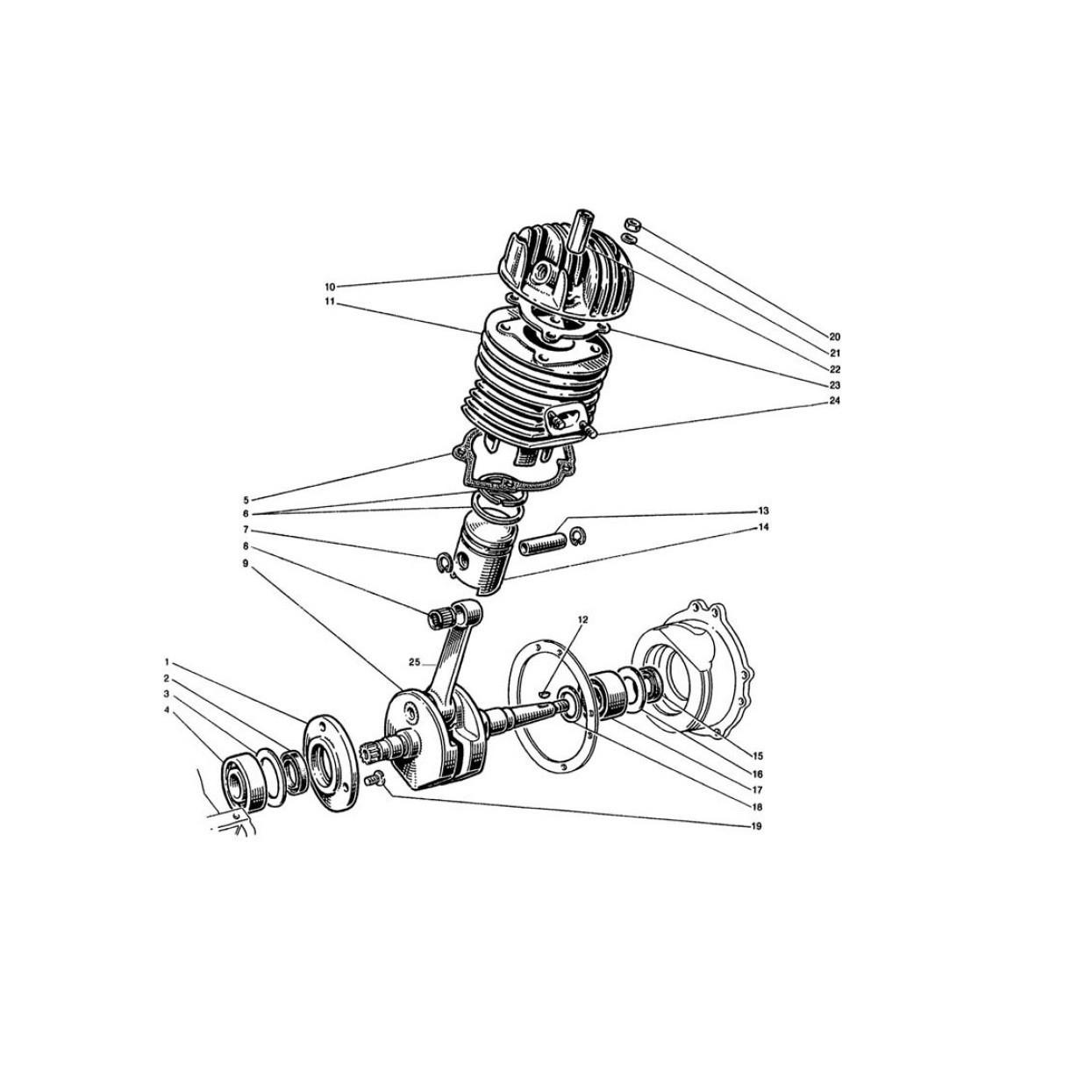 Albero Motore - Cilindro e Testa - Pistone (Tav.2)