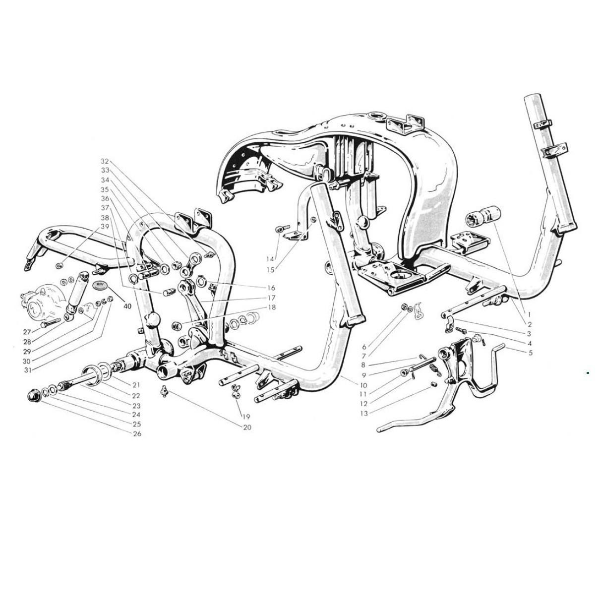 Telaio,cavalletto e sospensione (Tav.12)