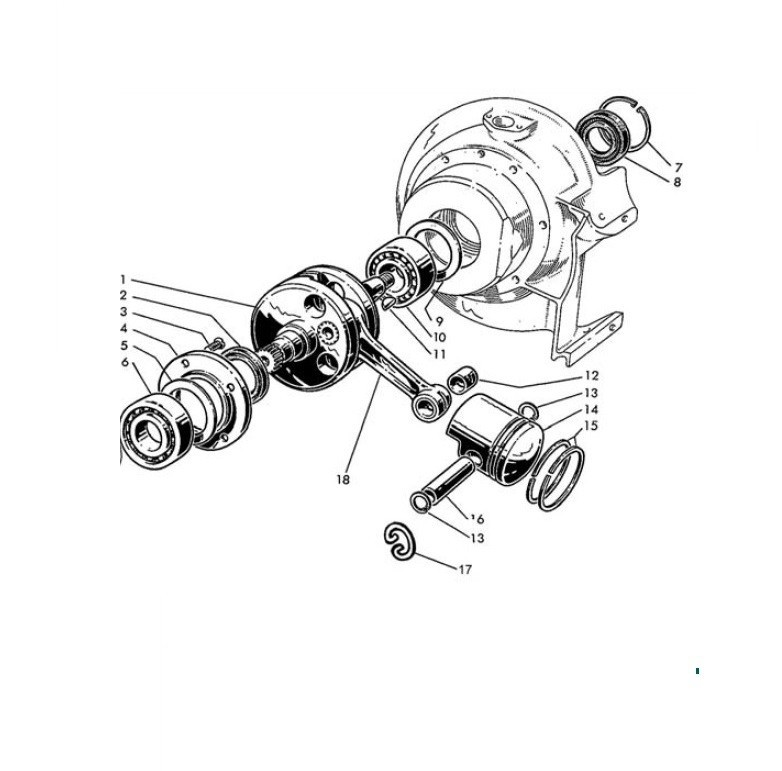 Albero motore e Pistone (Tav.2)