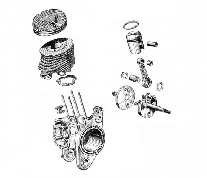 MOTORE - Motore, frizione, cuscinetti