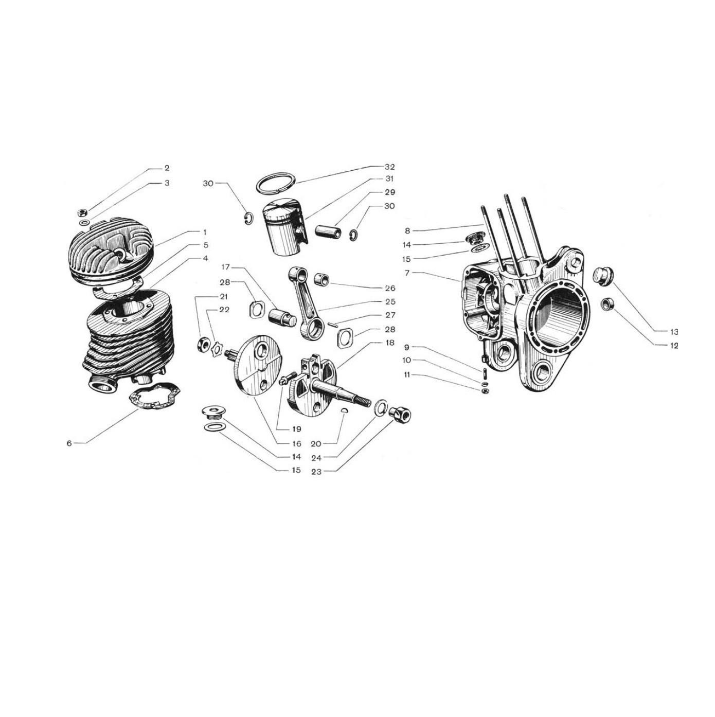 Cilindro e Albero Motore (Tav.1)