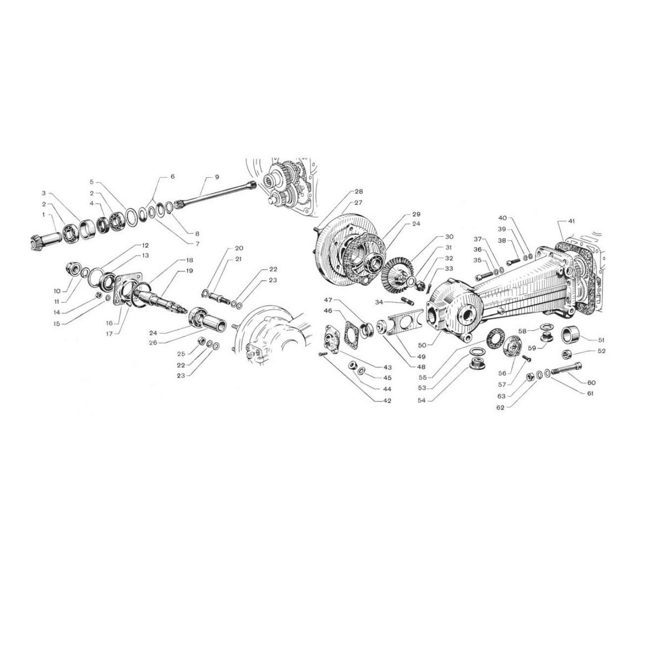 Carter motore e trasmissione posteriore (Tav.6)