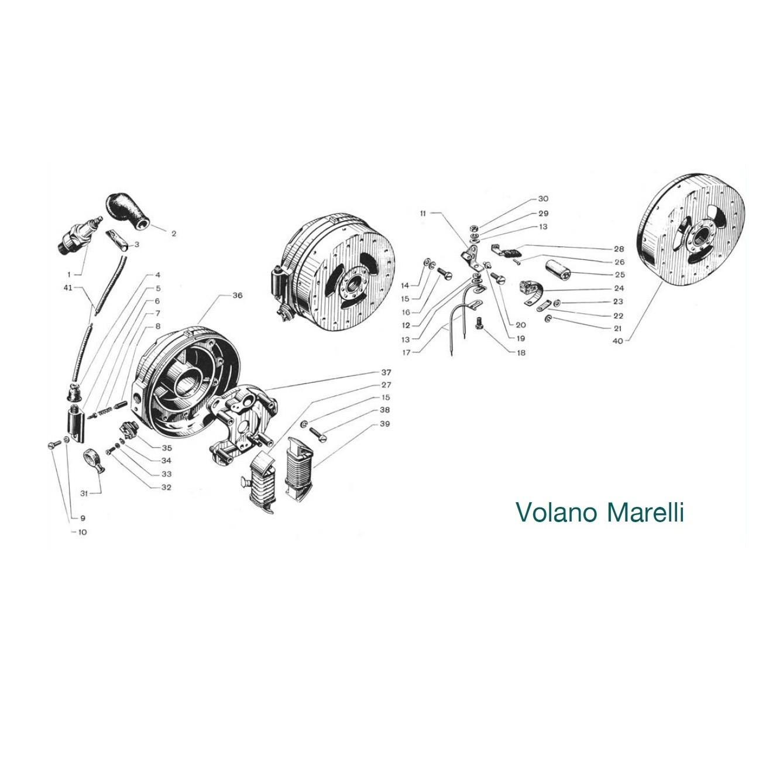 """Volano magnete """"Marelli"""" (Tav.17)"""