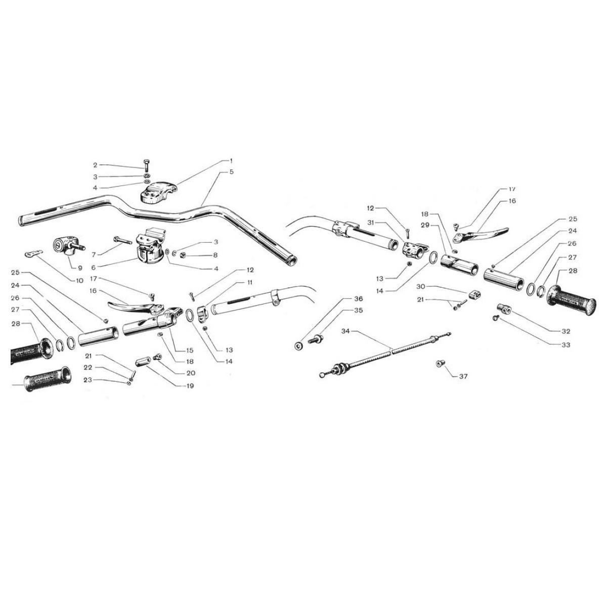 Manubrio anticorodal con comando (Tav.12)