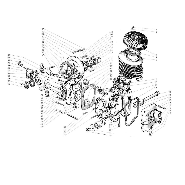 Carter motore, cilindro,trasmissione (Tav.1)