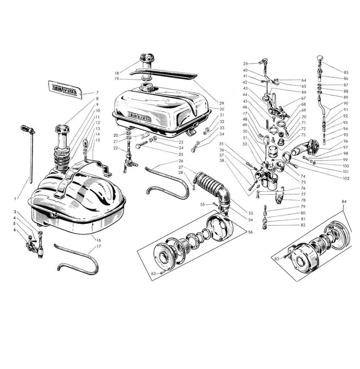Carburatore e Serbatoio (Tav.9)