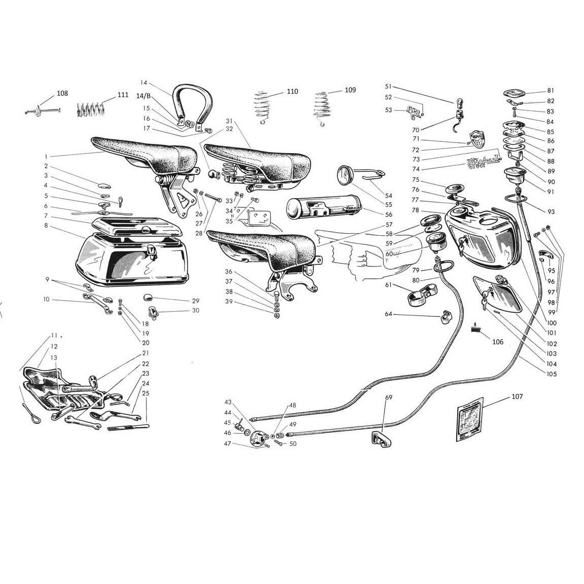 Accessori - Selle - Contachilometri (Tav.21)
