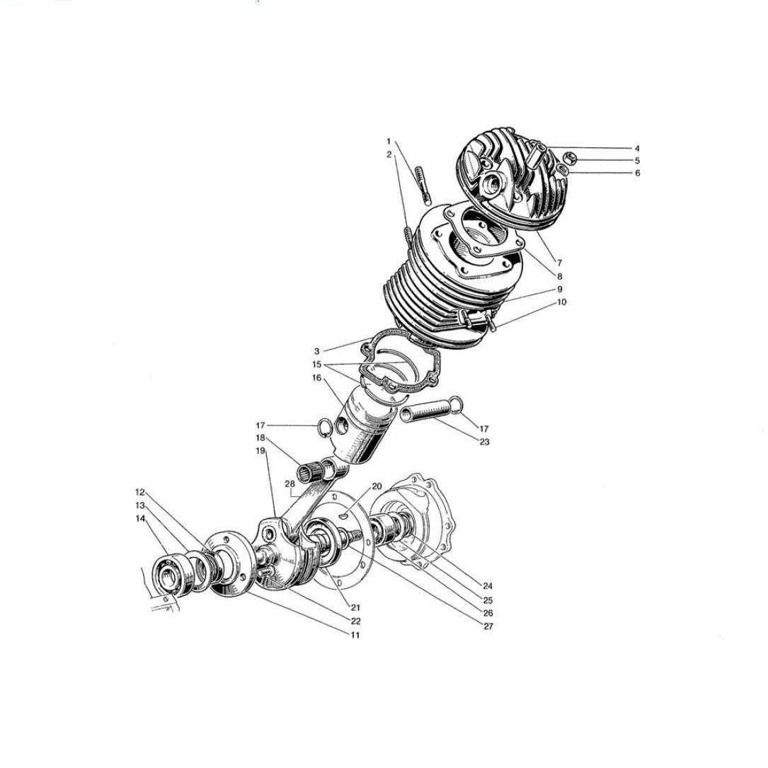 Albero Motore - Cilindro - Testa - Pistone (Tav.2)