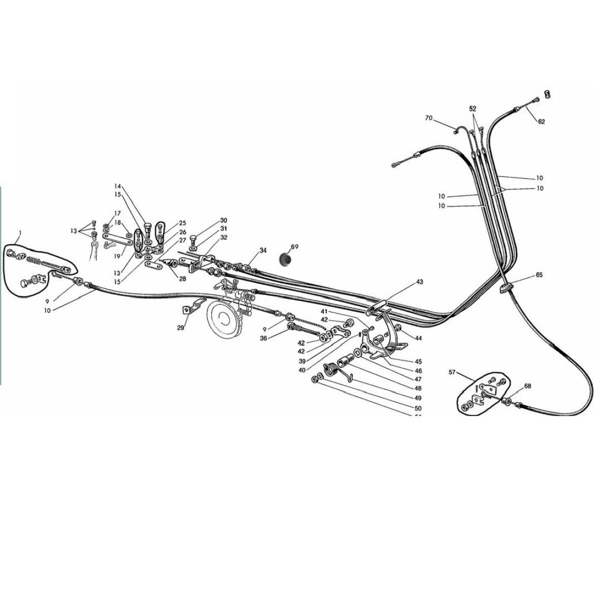 Guaine - Morsetti - Pedale Freno Posteriore (Tav.13)