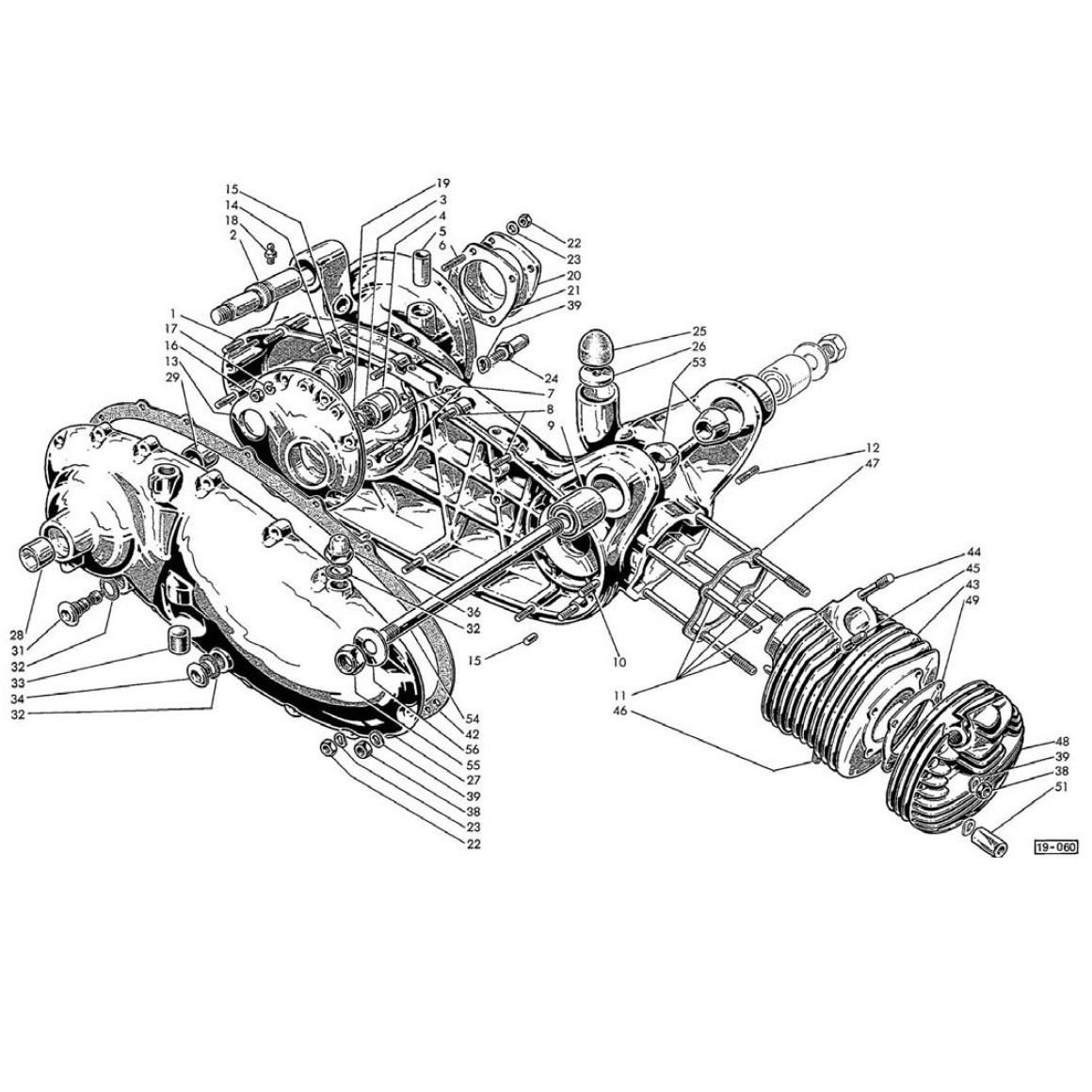 Carter Motore,Cilindro (Tav.1)